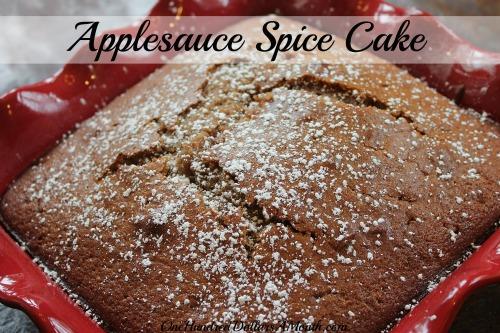 Easy Apple Recipes - Applesauce Spice Cake
