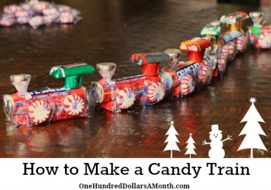Christmas Candy Train.How To Make A Candy Train Easy Kids Christmas Crafts One