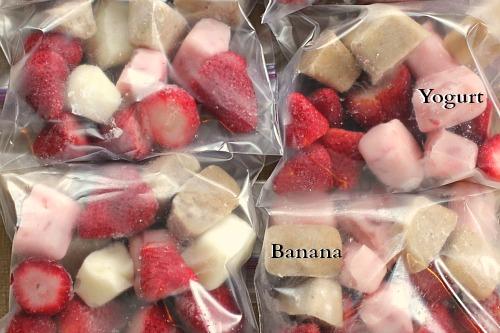 DIY Freezer Fruit Yogurt Smoothie Bags