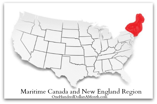 Maritime Canada and New England Region planting Guide