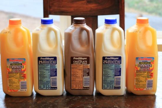 fred meyer milk orange juice