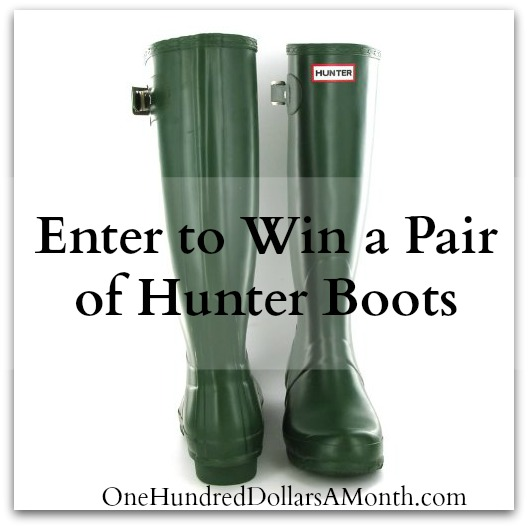 green hunter boots