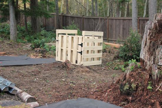 wood pallet compost