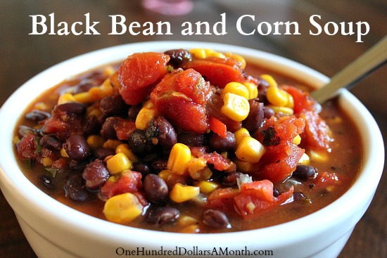 Easy Crock Pot Recipes Black Bean and Corn Soup