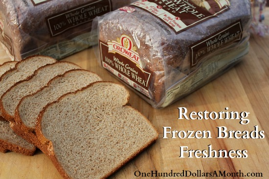 Easy Kitchen Tip Restoring Frozen Breads Freshness