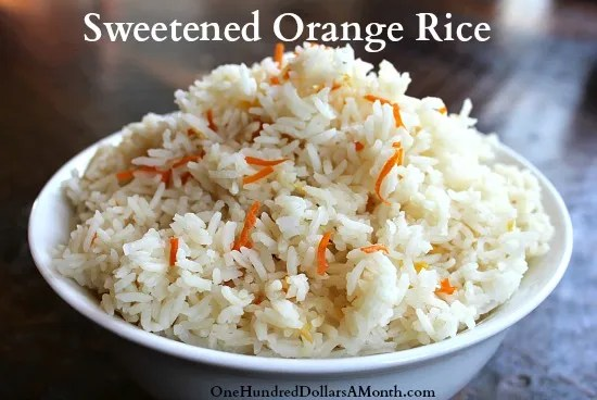 Rice Cooker Recipes - Sweetened Orange Rice