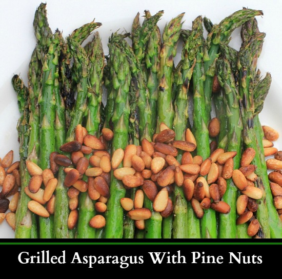 grilled asparagus with pine nuts recipe
