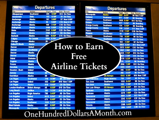 how to earn free airline tickets