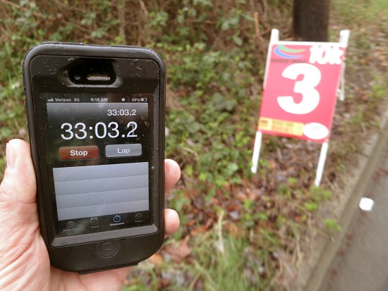 mile 3 race marker