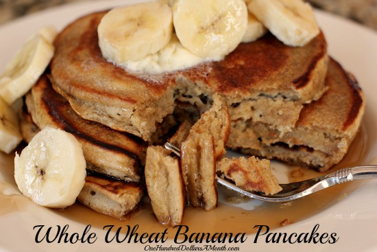 whole wheat banana pancakes recipe