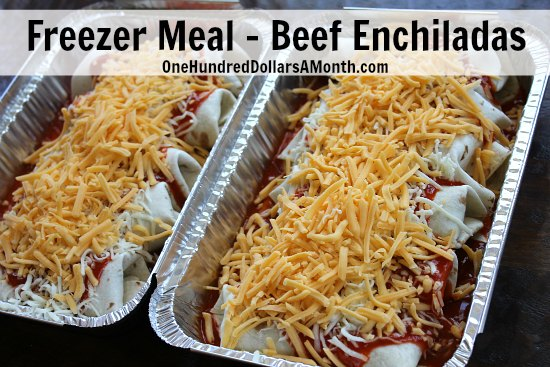 Freezer Meal - Beef Enchiladas Recipe with Photos