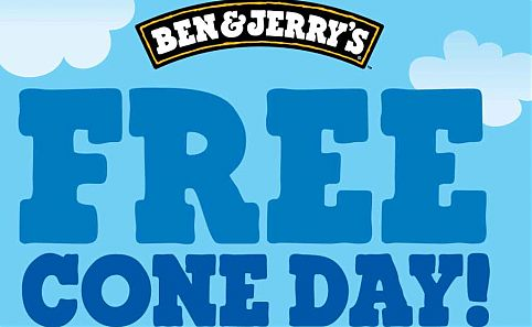 ben and jerrys free cone day