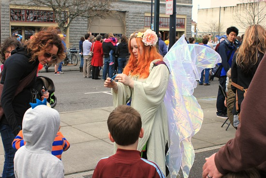 fairy with orange hair bellingham farmers market