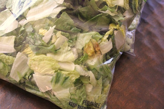 spoiled bagged lettuce