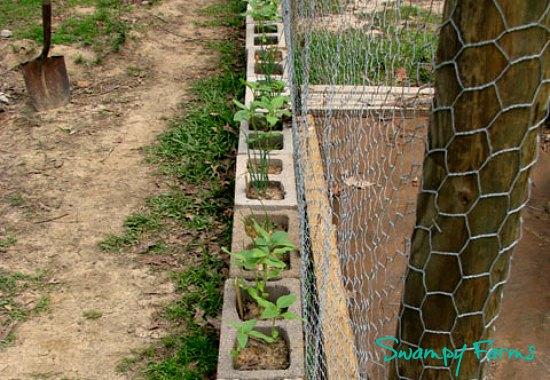 DIY garden cinder blocks
