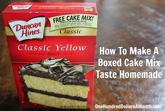 How To Make A Boxed Cake Mix Taste Homemade