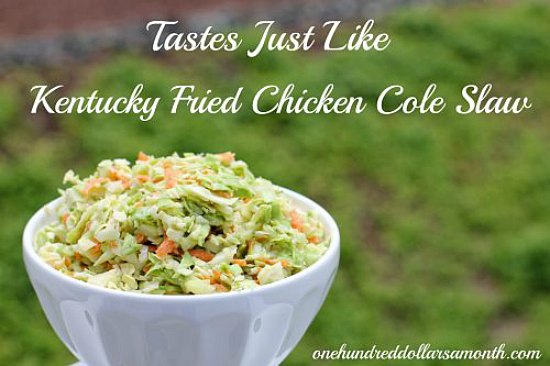 Kentucky fried chicken coleslaw recipe