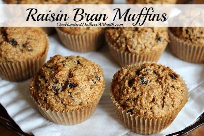 Raisin Bran Muffins recipe