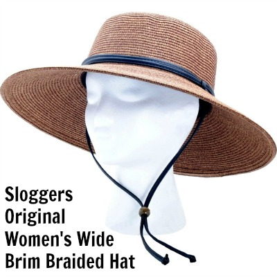 Sloggers Original Women's Wide Brim Braided Hat