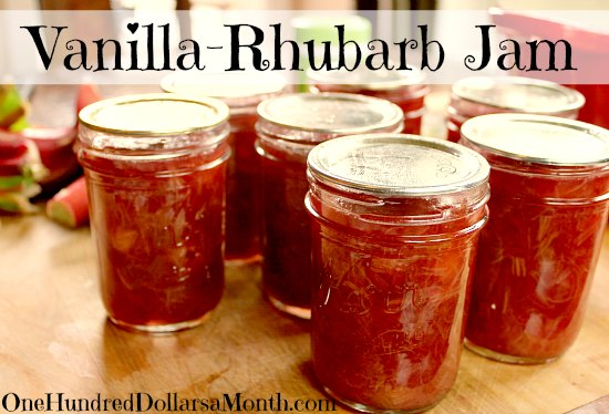 Vanilla-Rhubarb Jam
