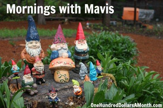 garden gnomes mornings with mavis