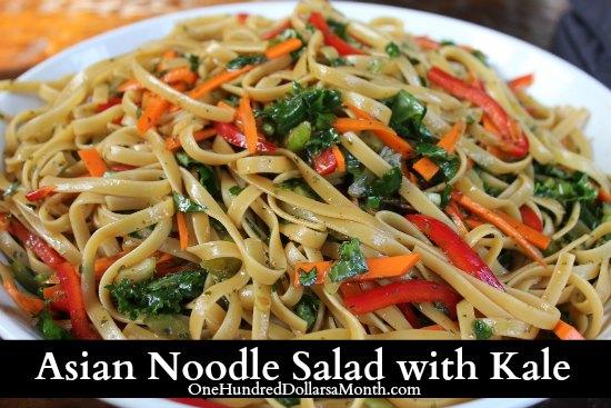 Asian Noodle Salad with Kale