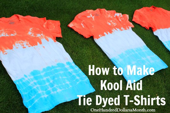 How to Make a Kool Aid Tie Dyed T-Shirt