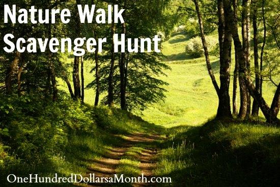 Nature Walk Scavenger Hunt