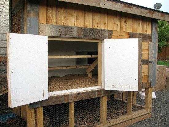 chicken coop double barn doors