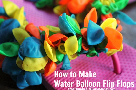 how to make water balloon flip flops