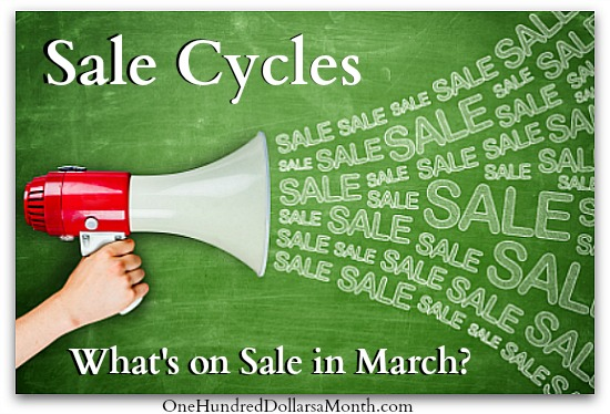 sale cycles what is on sale in march