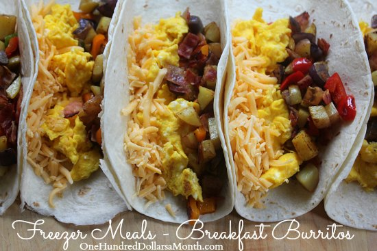 Freezer Meals - Breakfast Burritos
