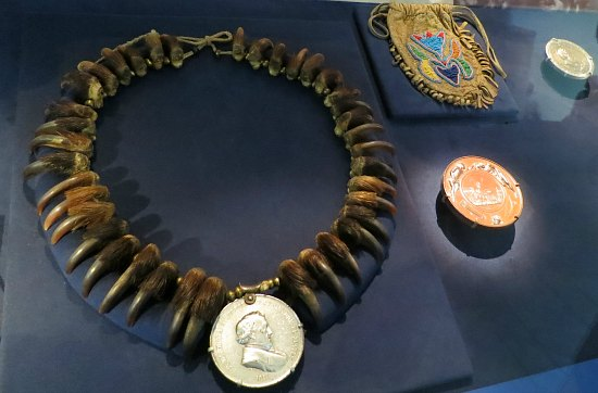 National Museum of the American Indian bear claw necklace