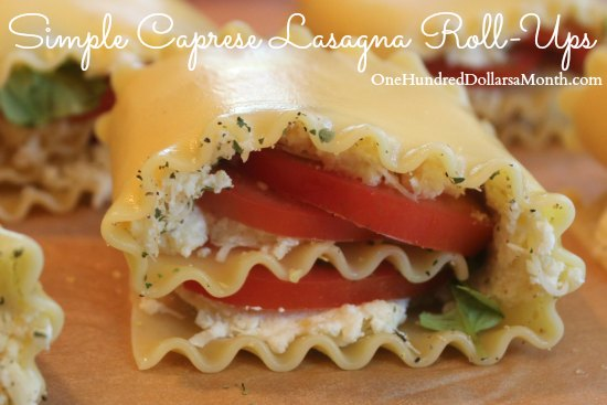 Simple Caprese Lasagna Roll-Ups