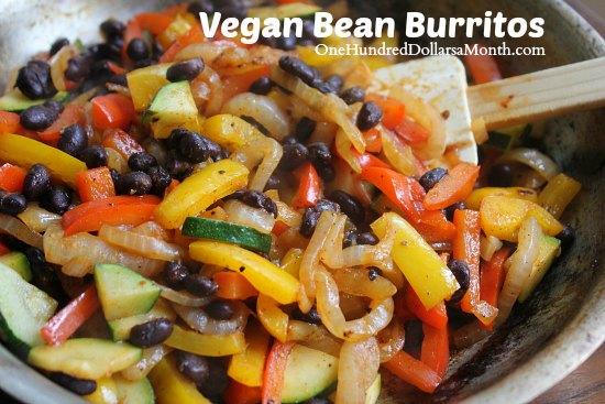 Vegan Recipes - Bean Burritos