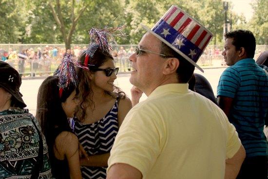 american flag top hat