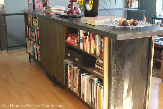 kitchen island bookshelf