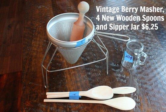vintage berry masher sieve