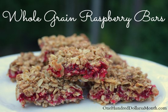 whole grain raspberry bars