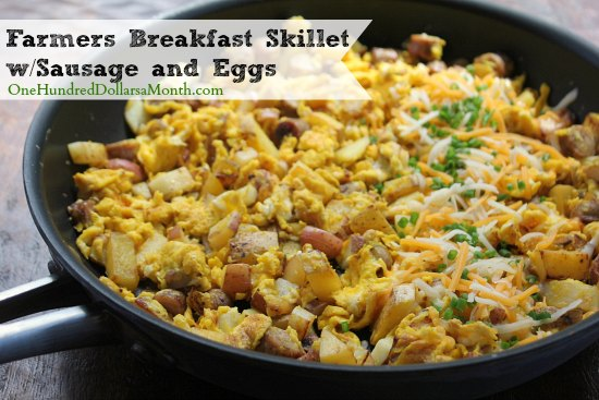 Farmers Breakfast Skillet with Sausage and Eggs