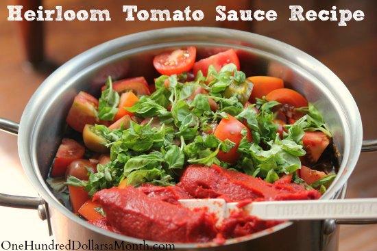 Heirloom Tomato Sauce Recipe