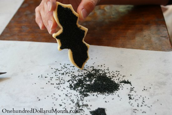 how to make bat cookies sprinkles2