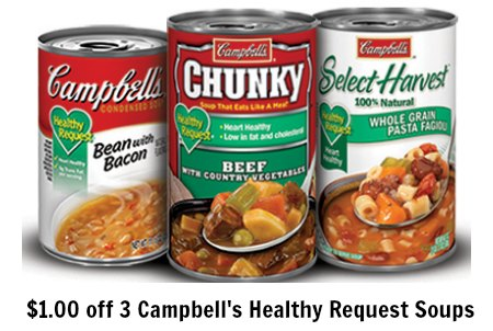 Campbell's Healthy Request soups coupon