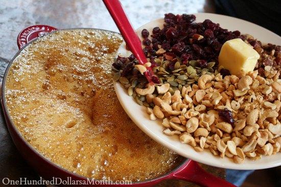 Cashew Cranberry Brittle recipe