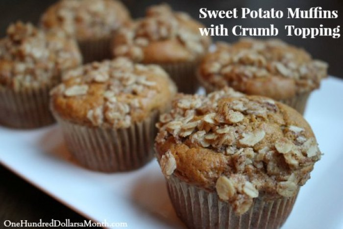 Thanksgiving Leftovers - Sweet Potato Muffins with Crumb Topping