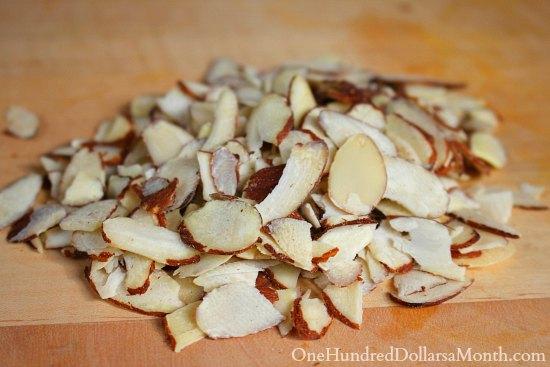 sliced almonds