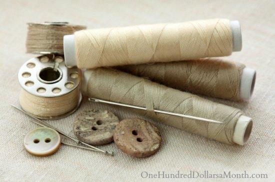 sewing bobbin thread button