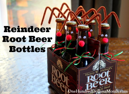Reindeer Root Beer Bottles