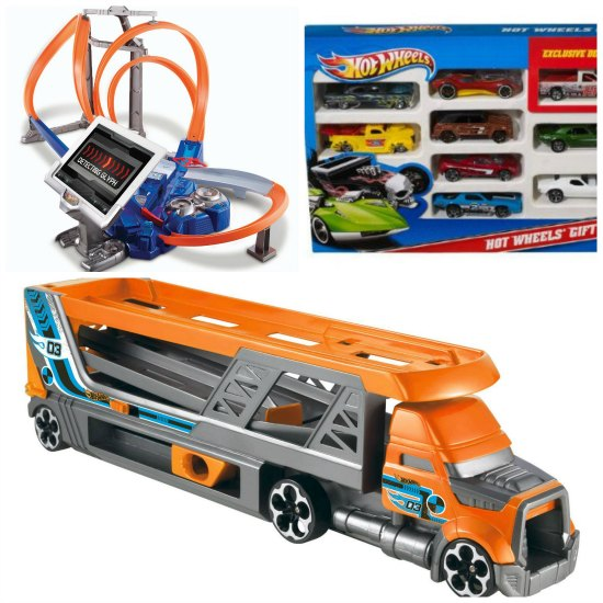 hot wheels truck cars track