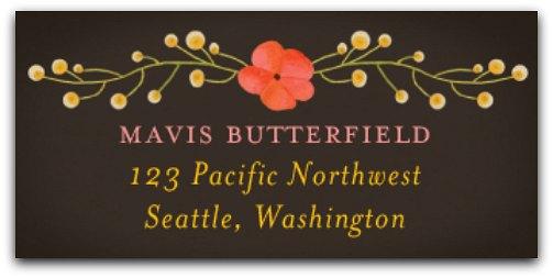 personalized address tags